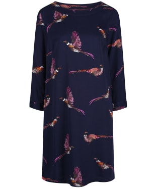 Women's Joules Daisy Boat Neck Woven Dress - Navy Pheasant