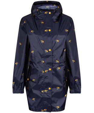 Women's Joules GoLightly Packaway Waterproof Jacket - Umbrella Ducks