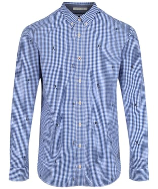 Men's Joules Coleridge Classic Printed Shirt - Blue Rugby Check