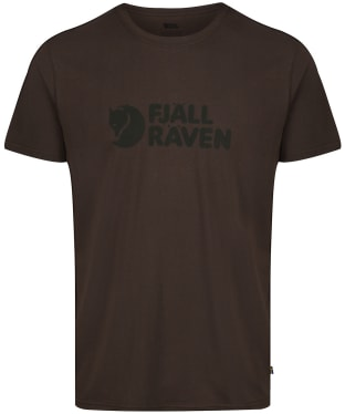 Mens Fjallraven Logo T-Shirt - Dark Olive