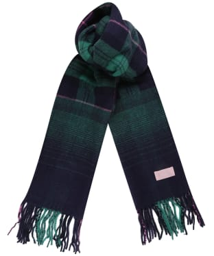 Women's Joules Bracken Check Scarf - Navy Ombre Check