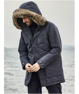Men's Didriksons Reidar Waterproof Parka - Navy Dust