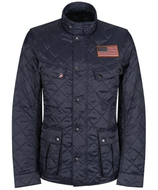 Men's Barbour Steve McQueen Jeffries Quilted Jacket - Navy