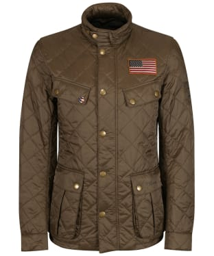 Men's Barbour Steve McQueen Jeffries Quilted Jacket - Olive
