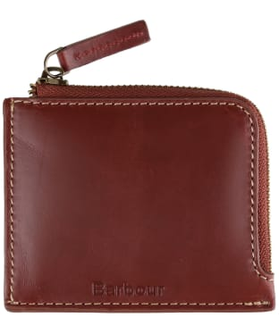 Men's Barbour Hadleigh Leather Zip Wallet