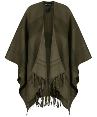 Women's Barbour Blair Tartan Serape - Olive