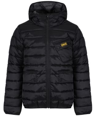 Boy's Barbour International Ouston Hooded Quilted Jacket, 6-9yrs - Black