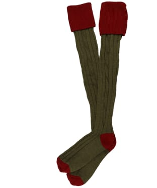 Men's Alan Paine Shooting Socks - New Red/Olive