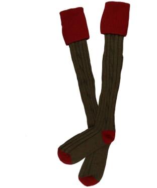 Men's Alan Paine Shooting Socks - Red / Alder