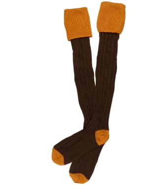 Men's Alan Paine Shooting Socks - Ochre/Brown