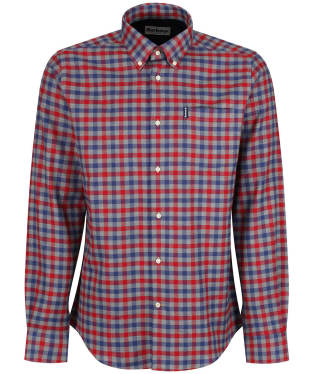 Men's Barbour Country Check 3 Tailored Shirt - New Rich Red Check
