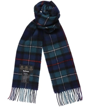 Barbour New Check Tartan Scarf - Dark Mackenzie