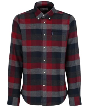 Men's Barbour Country Check 4 Tailored Shirt - Grey Marl
