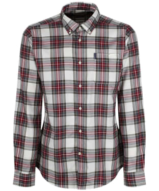 Men's Barbour Highland Check 14 Tailored Shirt - New Neutral