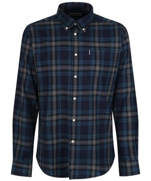 Men's Barbour Highland Check 7 Tailored Shirt - New Navy