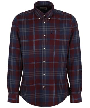 Men's Barbour Highland Check 7 Tailored Shirt - New Merlot