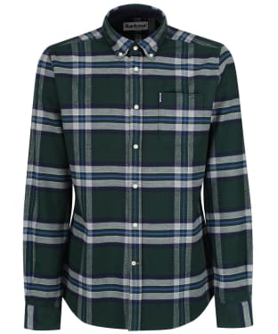 Men's Barbour Highland Check 16 Tailored Shirt - NEW SEAWEED