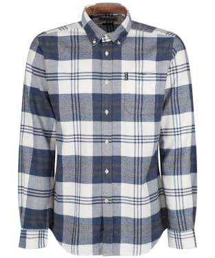 Men's Barbour Highland Check 16 Tailored Shirt - New Blue Marl