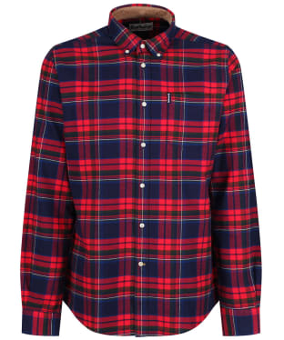 Men's Barbour Highland Check 16 Tailored Shirt - New Rich Red