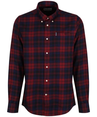 Men's Barbour Highland Check 12 Tailored Shirt - Rich Red