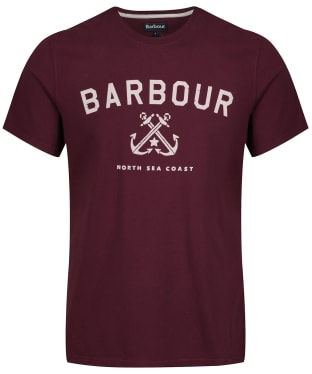 Men's Barbour Asher Tee - Merlot