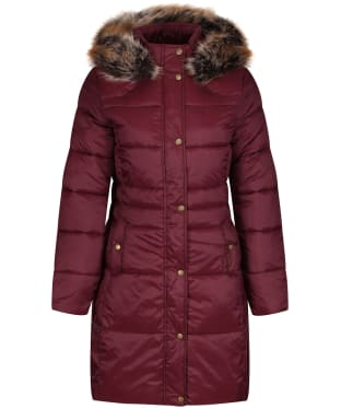 Women's Barbour Caldbeck Quilted Jacket - Bordeaux