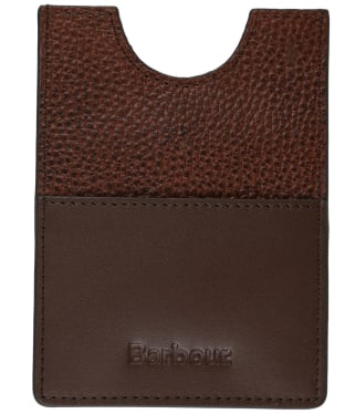 Men's Barbour Laddon Leather Passport Cover - Brown
