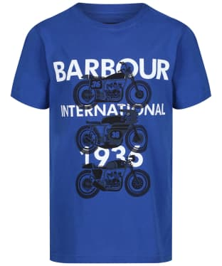 Boy's Barbour International Tri Bike Tee, 6-9yrs - Charge Blue