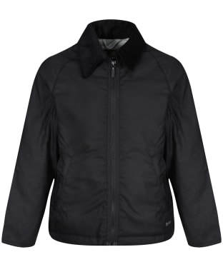 Boy's Barbour Winter Munro Waxed Jacket, 2-9yrs - Black