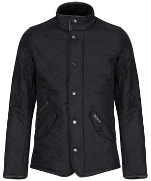 Boy's Barbour Powell Quilted Jacket, 10-15yrs - Black