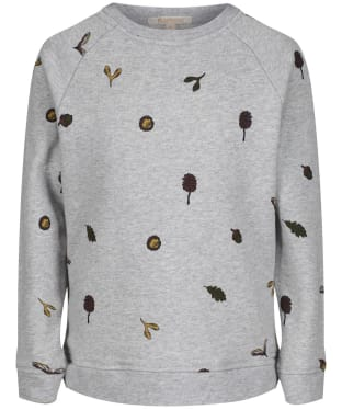 Girl's Barbour Broads Sweatshirt, 10-15yrs - Light Grey Marl