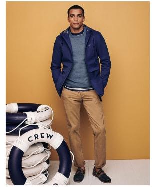 Men's Crew Clothing Woodwell Waterproof Jacket - Blue / Indigo