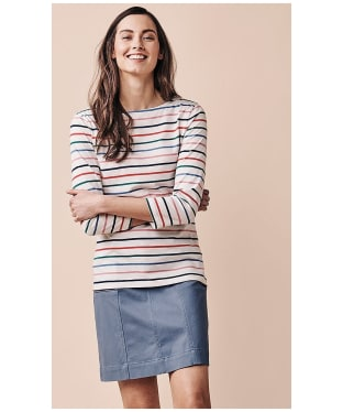 Women's Crew Clothing Essential Breton Top - White Multi