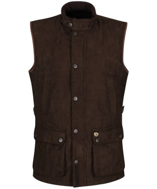 Men's Alan Paine Felwell Quilted Waistcoat - Brown