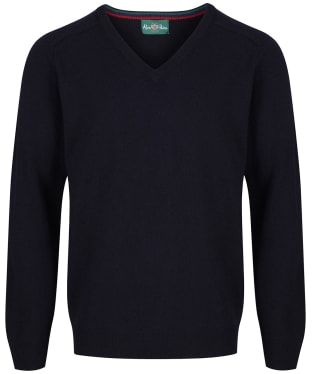 Men's Alan Paine Streetly V-Neck Pullover - Navy