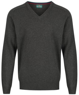 Men's Alan Paine Streetly V-Neck Pullover - Seaweed