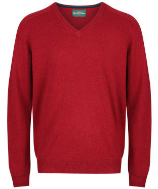Men's Alan Paine Streetly V-Neck Pullover - Magma