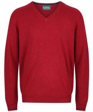 Men's Alan Paine Streetly V-Neck Pullover - Magma