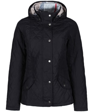 Women's Barbour Millfire Quilted Jacket - Navy