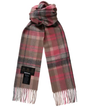 Women's Barbour Vintage Winter Plaid Scarf - Taupe / Pink