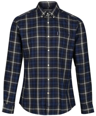 Men's Barbour Highland Check 14 Tailored Shirt - New Charcoal