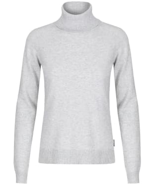 Women's Barbour Pendle Roll Neck Sweater - Pale Grey Marl
