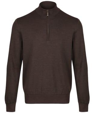Men's Barbour Gamlan Half Zip Sweater - Brown