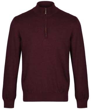 Men's Barbour Gamlan Half Zip Sweater - Merlot