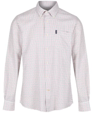 Men's Barbour Tattersall 8 Tailored Shirt - New Red