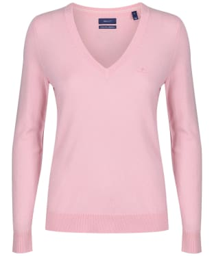 Women's GANT Lambswool V-Neck Sweater - Preppy Pink