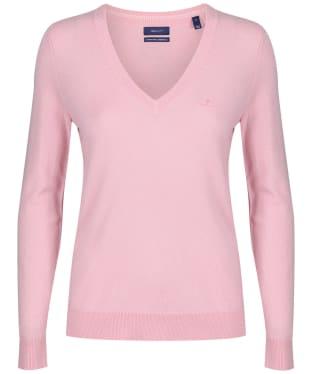 Women's GANT Lambswool V-Neck Sweater - Preppy Pink