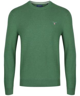 Men's GANT Super Fine Lambswool Sweater - Dark Cactus