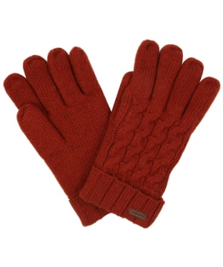 Women's Dubarry Buckley Knitted Gloves - Russet