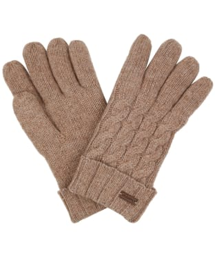 Women's Dubarry Buckley Knitted Gloves - Stone
